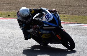 Portsmouth based 600 Supersport rider Sam Coventry exits Westfield on his Road and Racing Performance Kawasaki ZX-6R