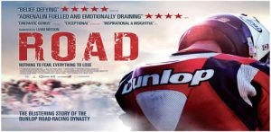ROAD, the movie depicting the highs and lows of the Dunlop road racing family, will be projected on to the side of the De La war pavilion in an open air screening