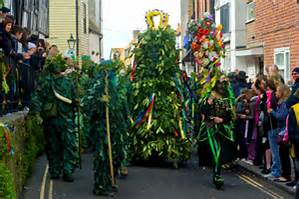 Jack in the Green celebrations create a most colourful carnival atmosphere throughout the town, and is a sight to behold