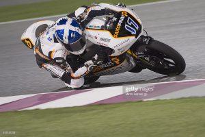 John McPhee takes his maiden world championship level win in Moto 3 aboard his Peugeot MCSaxoprint machine