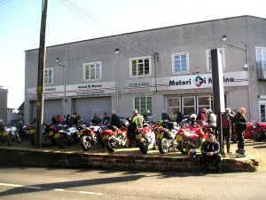 Early on at Motori di Marino - You couldn't move for bikes 1/2 hour after this shot