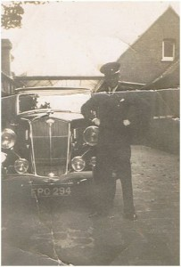 Early shot of my grandfather, Neil, with one of tha family firm's taxis